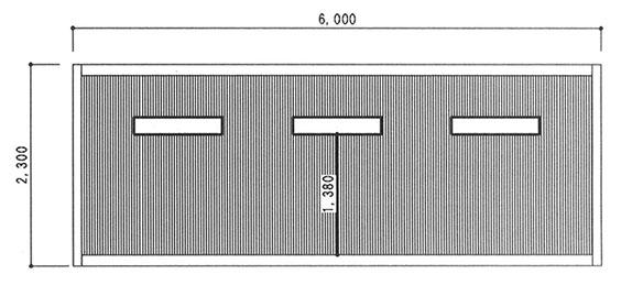 ライトガレージ横立面図