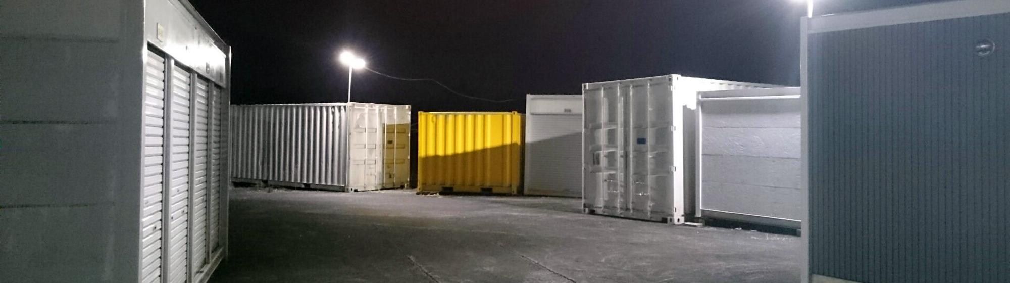 レンタル倉庫夜間照明
